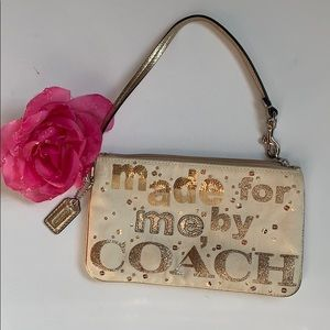 """Coach """"Made For Me By Coach"""" Wristlet"""